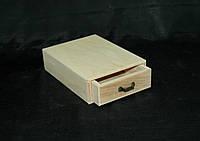 Заготовка для декупажа. Комодик один ящик №1 14х19х5(см)