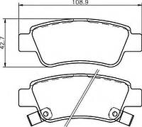 Тормозные колодки HONDA CR-V IV (RM_) 01/2012 - дисковые задние, Q-TOP (Испания) QE0915P