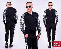 Мужской спортивный костюм рукава Лев черный