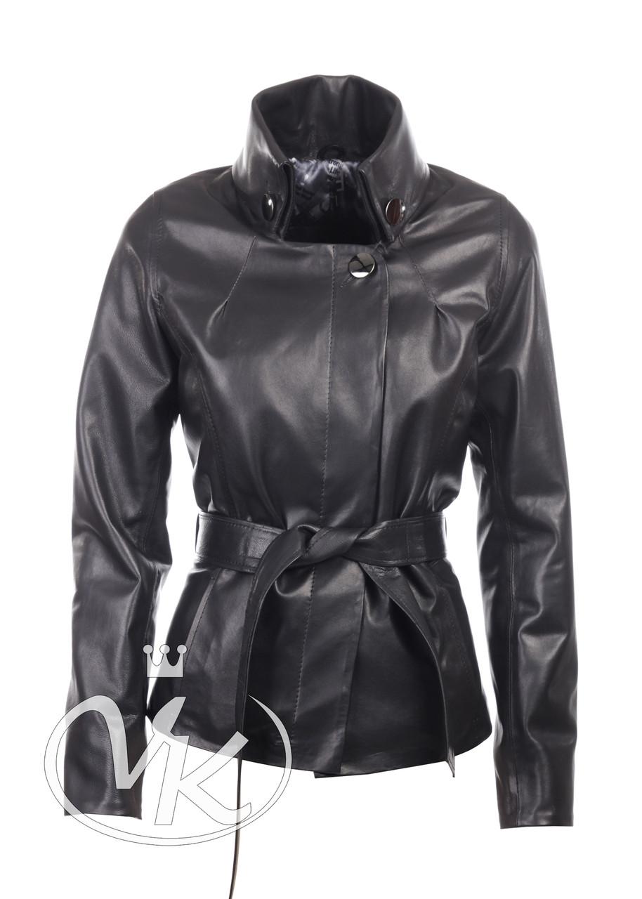 Короткая кожаная куртка женская (размер М) - Интернет магазин кожаных курток и дубленок VK-Fason в Виннице