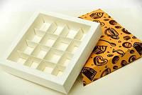 Коробка для конфет, мелованный картон