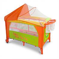 Детская кровать манеж Milly Mally Mirage Delux hippo Польша