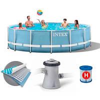 Каркасний басейн Intex 28702 з фільтром , 305х76 см, фото 1
