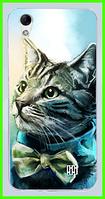 Чехол, бампер с принтом котика для HOMTOM HT16