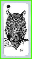 Чехол, бампер с принтом совы для HOMTOM HT16
