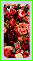Чехол, бампер с принтом троянд для HOMTOM HT16