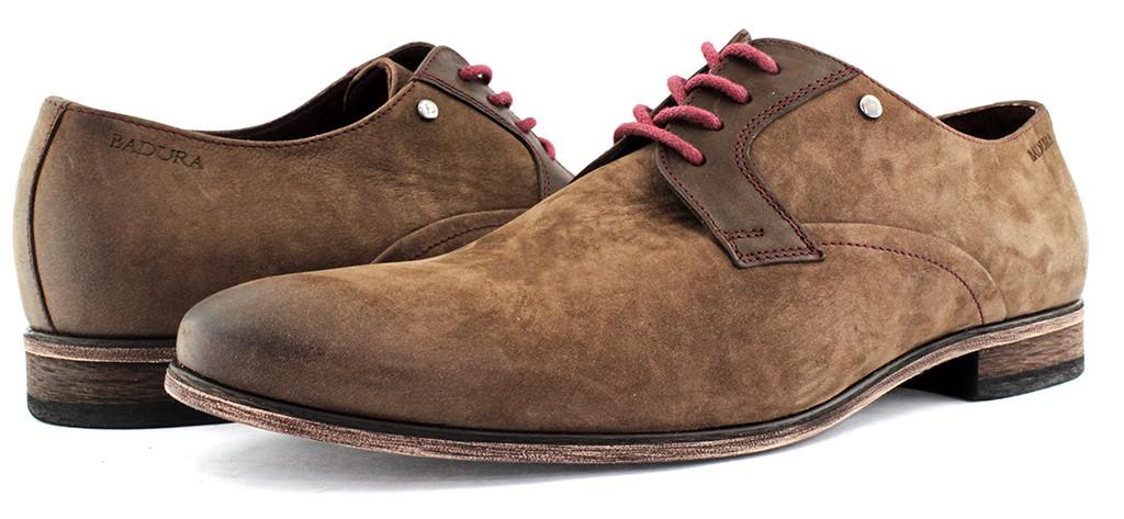 Весенние мужские туфли замшевые Badura