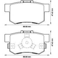 Тормозные колодки HONDA ACCORD VIII (CU) 07/2008 -  дисковые задние, Q-TOP (Испания) QE0930E