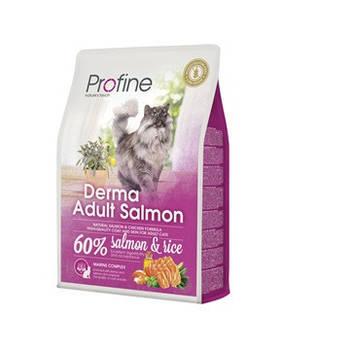 Сухой корм Profine Cat Derma Adult Salmon для длинношерстных кошек, 2 кг