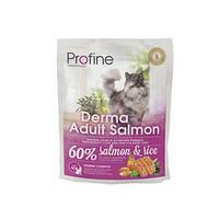 Profine Cat Derma Adult Salmon - корм для длинношерстных кошек, 300 г, Харьков, Киев, Херсон, Николаев