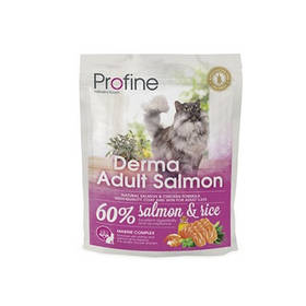 Profine Cat Derma Adult Salmon - корм для длинношерстных кошек, 300 г,