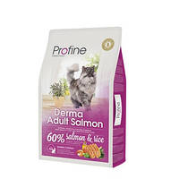 Profine Cat Derma Adult Salmon - корм для длинношерстных кошек, 10 кг, Харьков, Киев, Херсон, Николаев