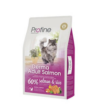 Сухой корм Profine Cat Derma Adult Salmon для длинношерстных кошек, 10 кг