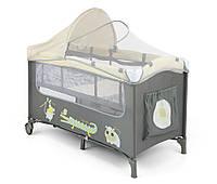 Детская кровать манеж Milly Mally Mirage Delux  Beige Польша
