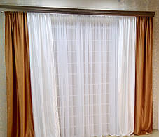 Шторы портьерные Шанзелизе Комби №5(2 шторы), фото 2