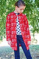 Подростковый красный кардиган на девочку LOVE р. 134-146
