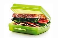 Ланч-бокс салатовый Tupperware 14х13х5см .Удобный и стильный!