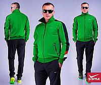 Мужской спортивный костюм 35 салат+черный