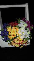 Фиалка - букеты из искусственных цветов, разные цвета, выс. 23 см., 100 шт. в упаковке, 4.95 гр.