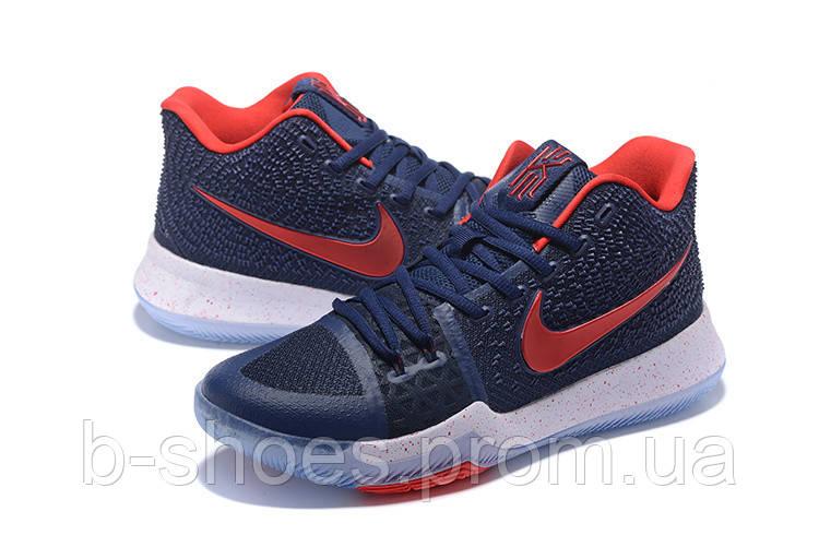Мужские баскетбольные кроссовки Nike Kyrie 3 (Blue/Red/White)