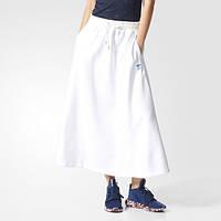 Белая юбка стильная adidas Originals Long BK5962 - 2017
