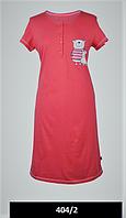 Сорочка нічна Жіноча для годуючих мам Ведмедик малиновий