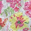 Батист-органза с розовыми и желтыми цветами
