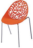 Стул Миа красный, пластиковый стул резной для дома, HoReCa