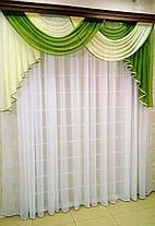 """Готовый ламбрекен """"Габриель""""  2м -зеленый, фото 3"""