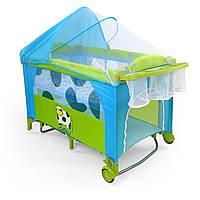 Детская кровать манеж Milly Mally Mirage Delux COW Польша