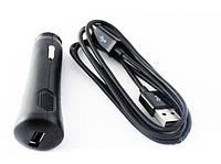 Автомобильная зарядка телефон Samsung i9220 (271017)  MicroUSB кабель+прикурка 1USB 0.75A