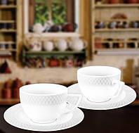 Набор: Чашка для капучино 170 мл и блюдце 6 пар Wilmax от Юлии Высоцкой WL-880106-JV
