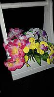 Орхидея - букеты из искусственных цветов, разные цвета, выс. 23 см., 40 шт. в упаковке, 6.08 гр.