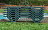 Шезлонг с подлокотниками PAPATYA MYRA-TEX-K темно-зеленый, сетка бежевая, фото 7