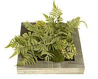 Искусственные цветы в деревянной рамке 30x30x10cm