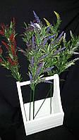 Веточки пластиковой лаванды, разные цвета, выс. 65 см., 25 шт. в упаковке, 16.20 гр., фото 1