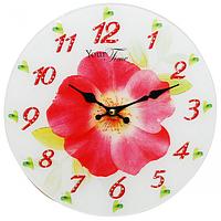 Часы настенные серия Кухня Цветок стекло/кругл. 28см