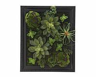Искусственные цветы в деревянной рамке 25x8x30.5cm