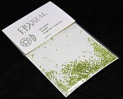 Камни  Сваровски пикси(алмазная крошка) зеленые 1440 шт