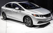 Автомобильные чехлы Honda Civic девятого поколения, sedan c 2012 года