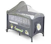 Детская кровать манеж Milly Mally Mirage Delux  Grey Польша