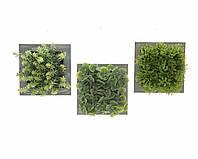 Искусственные цветы в деревянной рамке 15x7.5x15cm