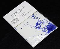 Камни  Сваровски пикси(алмазная крошка) синие 1440 шт