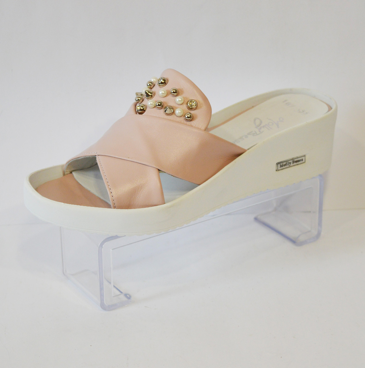 Розовые женские шлепанцы Molly Bessa 355