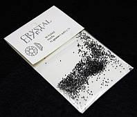 Камни  Сваровски пикси(алмазная крошка) черные 1440 шт