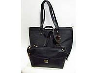 Черная сумка 2 в 1. Большая сумка + клатч