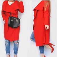 Пальто женское кашемировое стильное 171-9 красное,верхняя одежда женская
