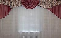 Ламбрекен №50 из плотной ткани на карниз 2,5-3м.  Код: 050л072