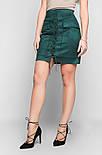 Женская красивая замшевая юбка шнуровка (6 цветов), фото 5