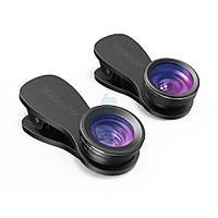 Набор из трех линз, Anker Phone Camera Lens Kit (180° Fisheye, 0.65x широкоугольный, 10x макро) (A7300011)